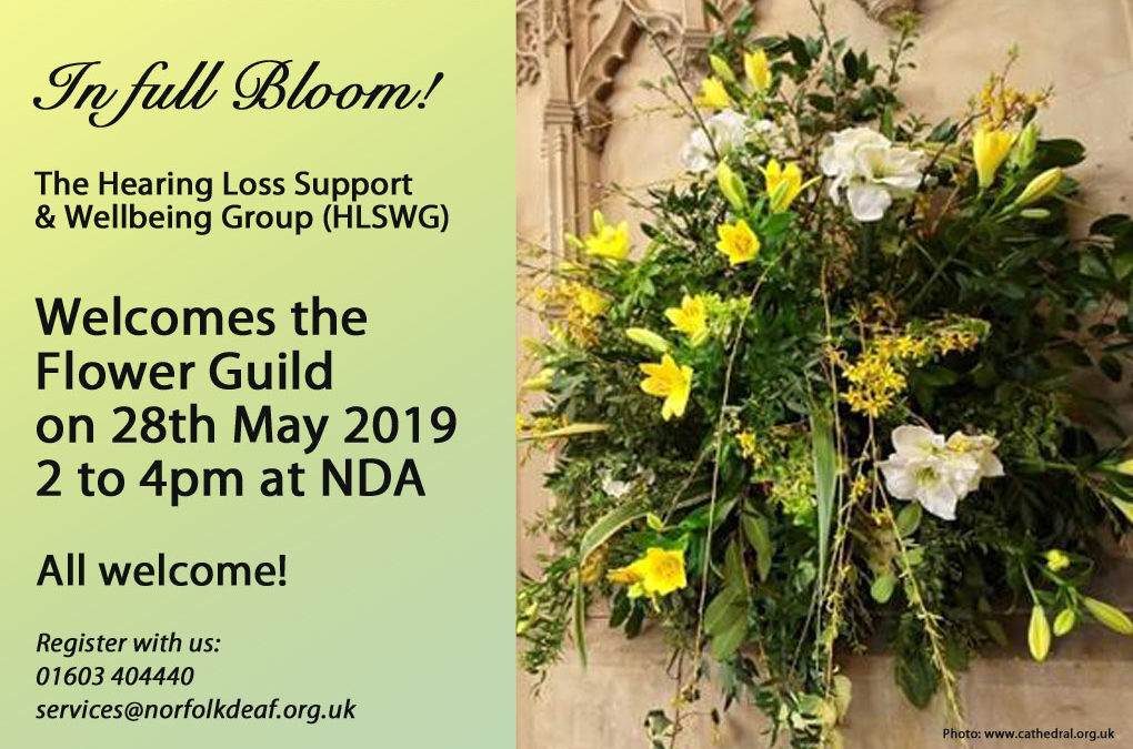 The Flower Guild at the HLS Wellbeing Group (HLSWG) 28th May 2-4pm
