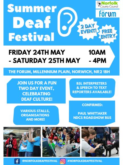 Summer Deaf Festival 24th/25th May 2019